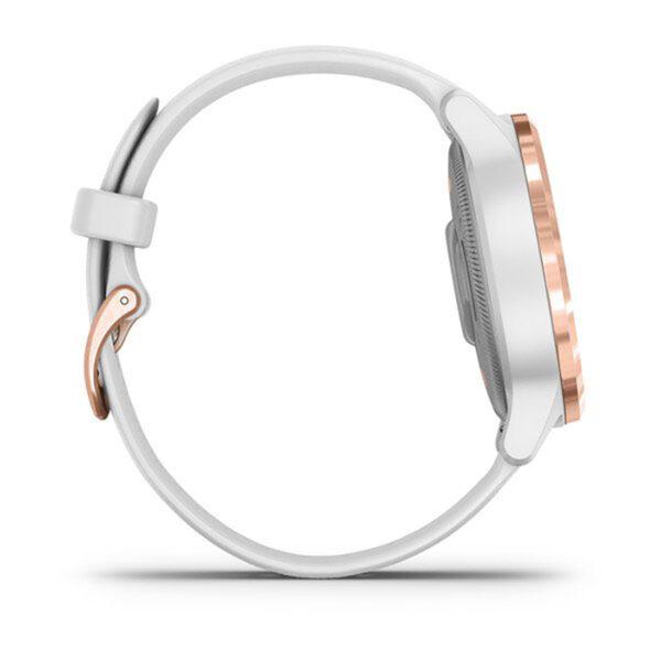Smartwatch-Garmin-Vivoactive-4S-Oro-Rosa-Silicone-Bianco-fitness-Cardio-010-02172-22