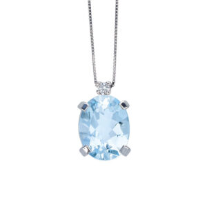 collana bibigì acquamarina azzurra diamante