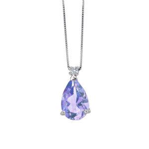 collana bibigì tanzanite goccia diamante