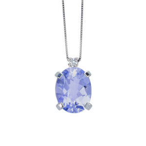 collana bibigì tanzanite ovale diamante