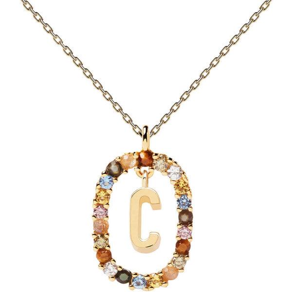 collana iniziale c argento dorato PDPaola Chiara ferragni