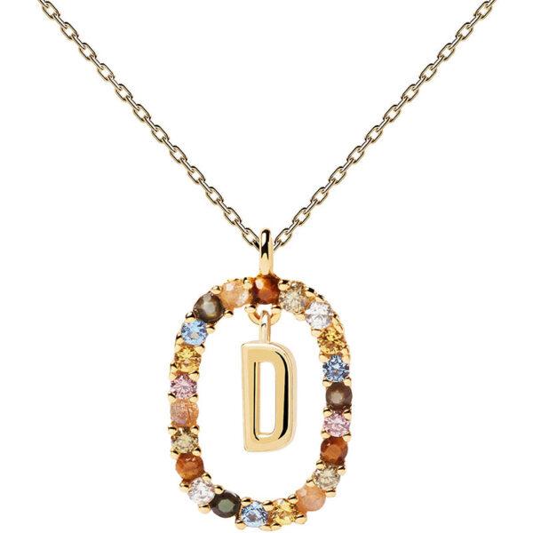 collana iniziale d argento dorato PDPaola Chiara ferragni