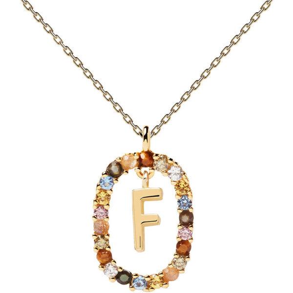 collana iniziale f argento dorato PDPaola Chiara ferragni