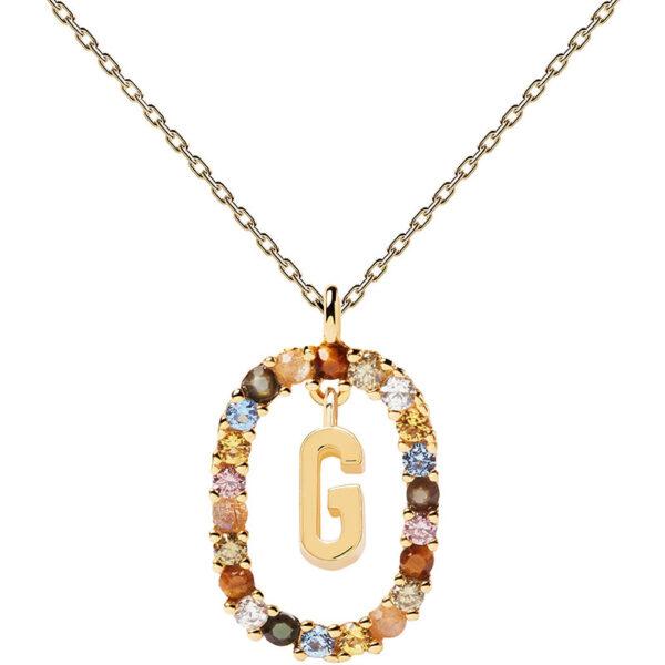collana iniziale g argento dorato PDPaola Chiara ferragni