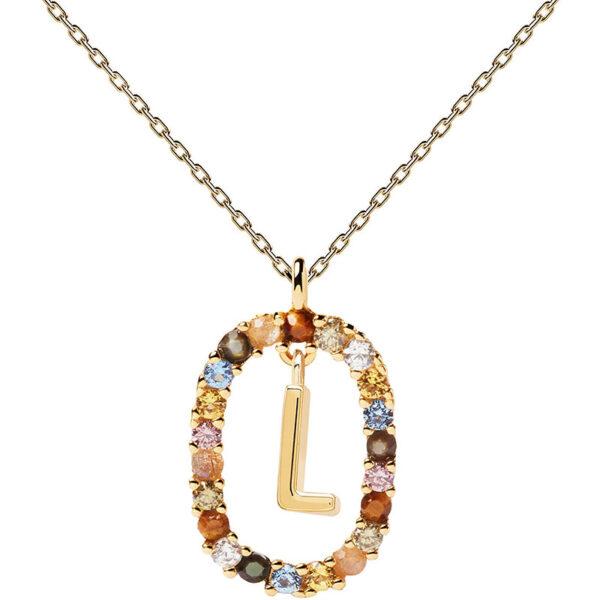 collana iniziale l argento dorato PDPaola Chiara ferragni
