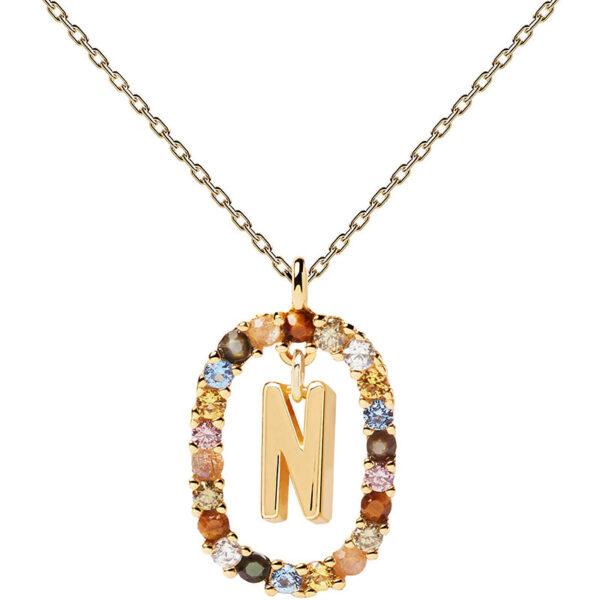 collana iniziale n argento dorato PDPaola Chiara ferragni