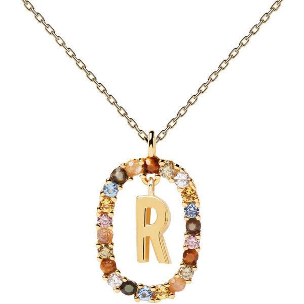 collana iniziale r argento dorato PDPaola Chiara ferragni