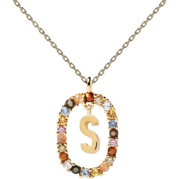 collana iniziale s argento dorato PDPaola Chiara ferragni