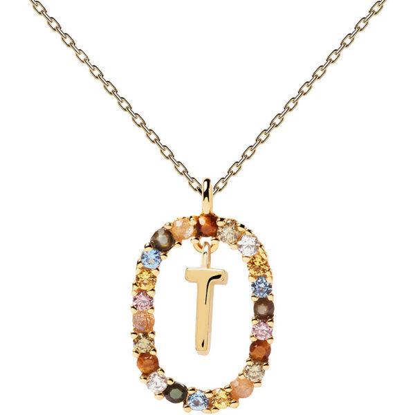collana iniziale t argento dorato PDPaola Chiara ferragni