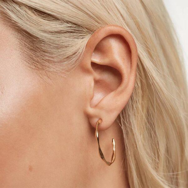 orecchini ad anelle in argento dorato PdPaola
