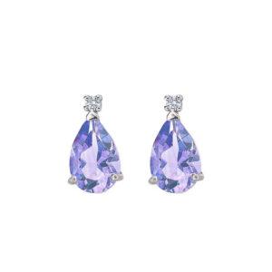 orecchini bibigì tanzanite goccia diamante