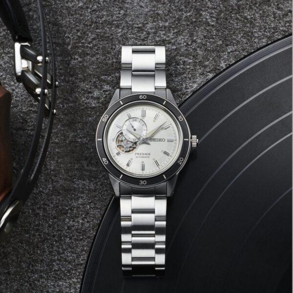 seiko-presage-automatico-acciaio-bianco-open-heart-vintage-60style-ssa423j1