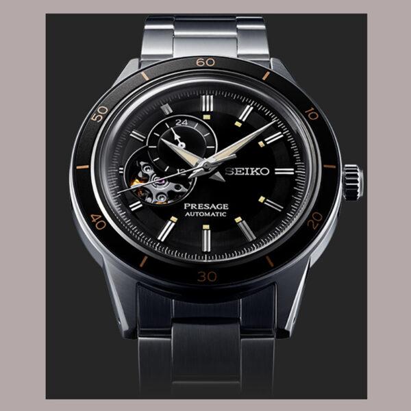 seiko-presage-automatico-acciaio-nero-open-heart-vintage-60style-ssa425j1
