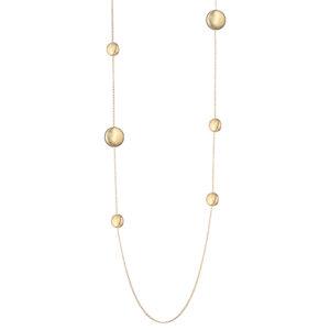 collana lunga con pepite in argento dorato