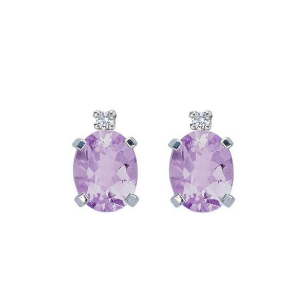 orecchini ametista diamante bibigì bibigi