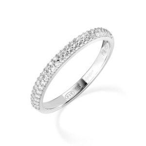 anello fedina eternella amen argento