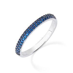 anello fedina eternella amen blu