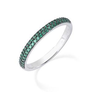 anello fedina eternella amen verde