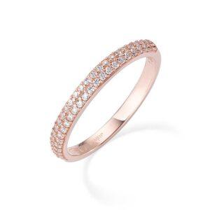 anello fedina eternella amen rosa