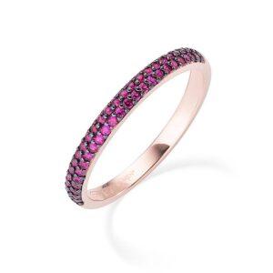 anello fedina eternella amen rossa rosa fuxsia