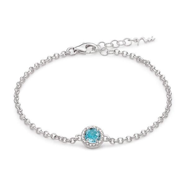 bracciale donna argento miluna gemma del cielo