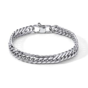 bracciale comete uomo acciaio maglia catena